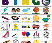 Printable Streamwood Park District BINGO