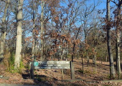Marquette Woods Park Sign