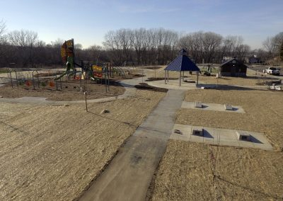 Playground, Gazebo, and Cornhole of Commissioners' Park