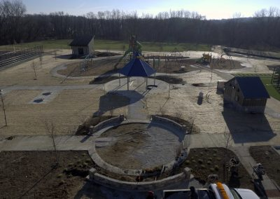 Playground, Gazebo, Memorial Circle, Restrooms, and Cornhole of Commissioners' Park